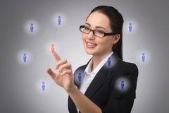 处理您的联络网络 免版税库存照片