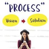 处理战略成功视觉解答图表概念 免版税图库摄影