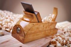 处理木头飞机 免版税图库摄影