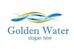 处理水的设计徽标 皇族释放例证