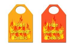 处理热夏天标签 免版税库存照片