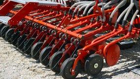 处理的农业耕地机土地 耙,农业 免版税库存图片