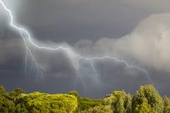 处理的可西嘉岛雷暴 图库摄影