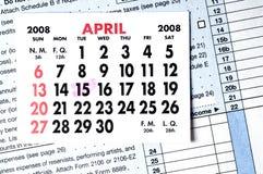 处理的截止日期 免版税库存图片