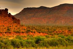 处理的沙漠风暴 免版税库存图片