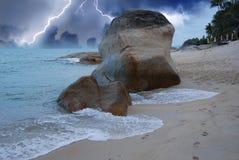 处理的海滩酸值lamui samui风暴 库存图片