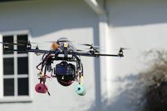 处理的直升机房子监视 库存图片