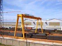 处理的围场金属机械材料 免版税库存图片