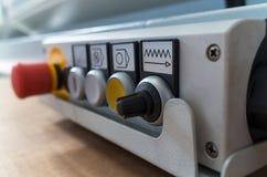 处理的CNC遥控 免版税库存图片