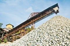 处理石头的工厂 库存照片