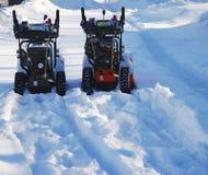 处理雪的设备 免版税库存图片