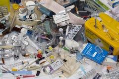 处置的-传染风险医疗废物 免版税库存照片