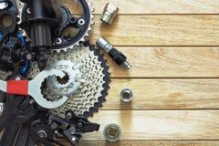 备件和工具为自行车 库存照片