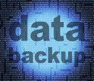 备用数据意味文件传输和档案 免版税库存照片