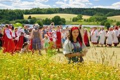 备草粮节日在俄罗斯 免版税库存图片
