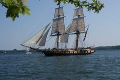 1812复制品帆船美国战争在多伦多彼得J Restivo 免版税库存图片