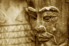 复制品雕塑赤土陶器战士 库存图片