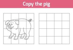 复制图片:猪 向量例证