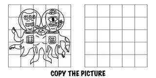 复制图片 疯狂的2个外籍人或妖怪 向量例证