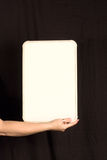 复制女性现有量藏品空间whiteboard 免版税库存图片