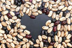 从豆的心脏shapeing的拷贝空间 免版税图库摄影