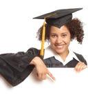 复制指向空间的毕业 免版税库存图片