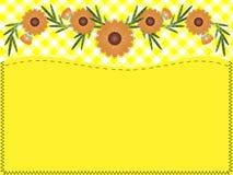复制方格花布缝制的空间向量百日菊&# 库存照片