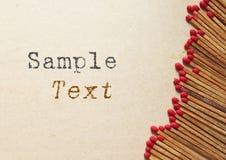 复制木符合老纸的空间 免版税库存照片