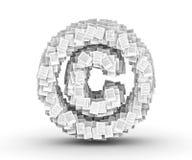 复制权符号,专栏文献字体 免版税库存照片