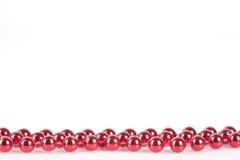 复制理想珍珠红色空间字符串 免版税图库摄影