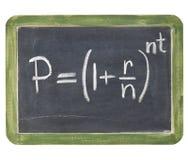 复合等式利息 免版税图库摄影