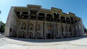 复杂大刀hauz -包括清真寺尖塔,布哈拉,乌兹别克斯坦 影视素材