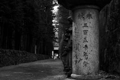 复杂日光寺庙走道 库存图片