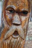 复杂木雕刻在bullabul小河轨道, bridgewater 库存照片