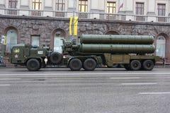 复杂火箭街道tverskaya 免版税库存图片