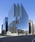 复杂玻璃现代办公室 免版税图库摄影