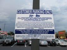 复杂的停车处章程 库存照片