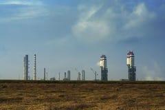 复杂石油种植过程精炼厂 免版税库存图片