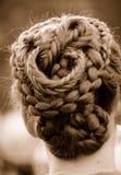 复杂结辨的头发 免版税图库摄影