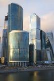 复杂莫斯科城市特写镜头4月晚上 免版税库存照片