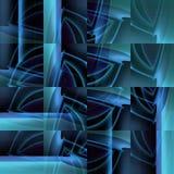 复杂被转移的正方形仿造蓝绿色灰色紫色 库存照片