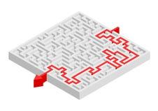 复杂迷宫解答 免版税库存照片