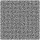 复杂迷宫 向量例证