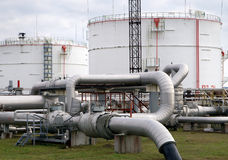 复杂部分精炼厂 免版税库存图片