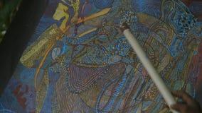 复杂风景布料绘画,莫尔斯比村庄 影视素材