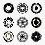 复杂齿轮集合 向量例证