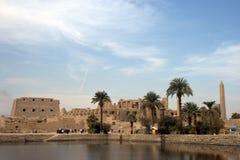 复杂karnak寺庙 库存照片