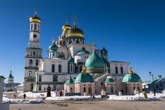 复活大教堂在17世纪的新耶路撒冷修道院里 Istra,莫斯科郊区,俄罗斯镇  库存图片