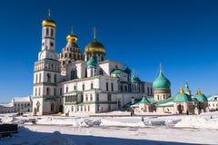复活大教堂在17世纪的新耶路撒冷修道院里 Istra,莫斯科郊区,俄罗斯镇  免版税库存照片