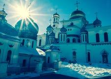 复活大教堂的片段在17世纪的新耶路撒冷修道院里 Istra镇,莫斯科郊区,俄罗斯 免版税图库摄影